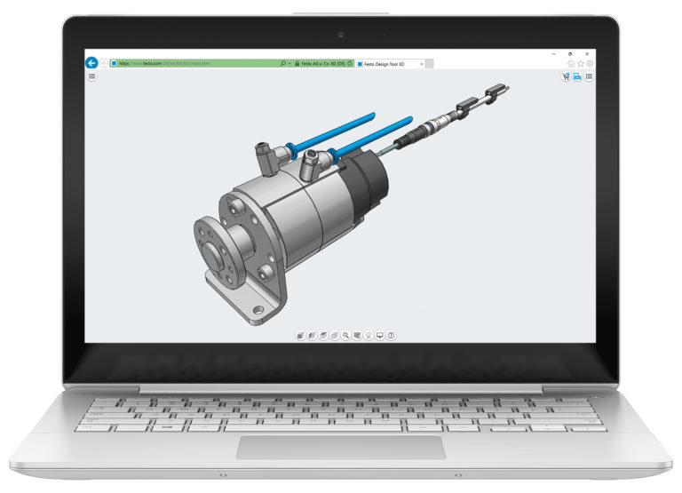 Festo design tool 3D now as a fast online tool
